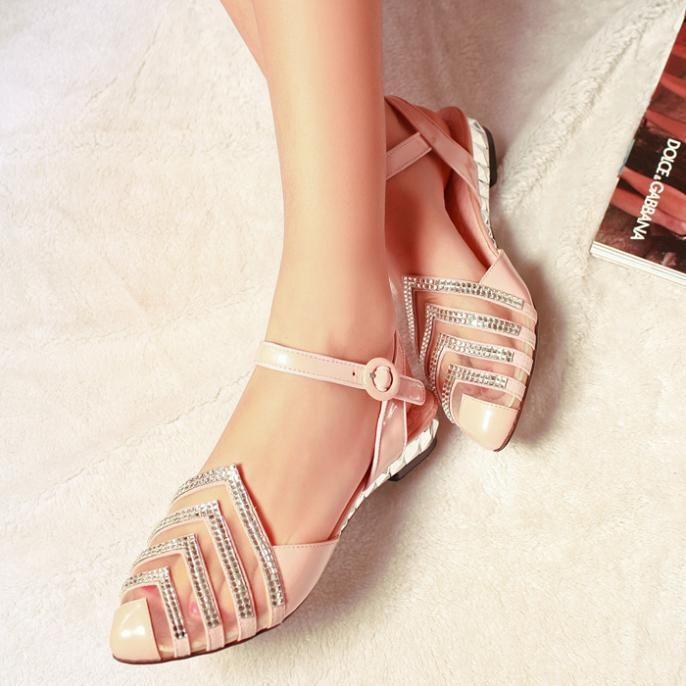 Rhinestone flat heel sandals 2014 summer shoes summer women shoes fashion sandals 2014 summer sweet free shipping