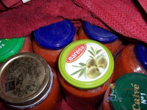 Die besten hausgemachten Konserven Tomatensauce (Le Bottiglie di Pomodoro)