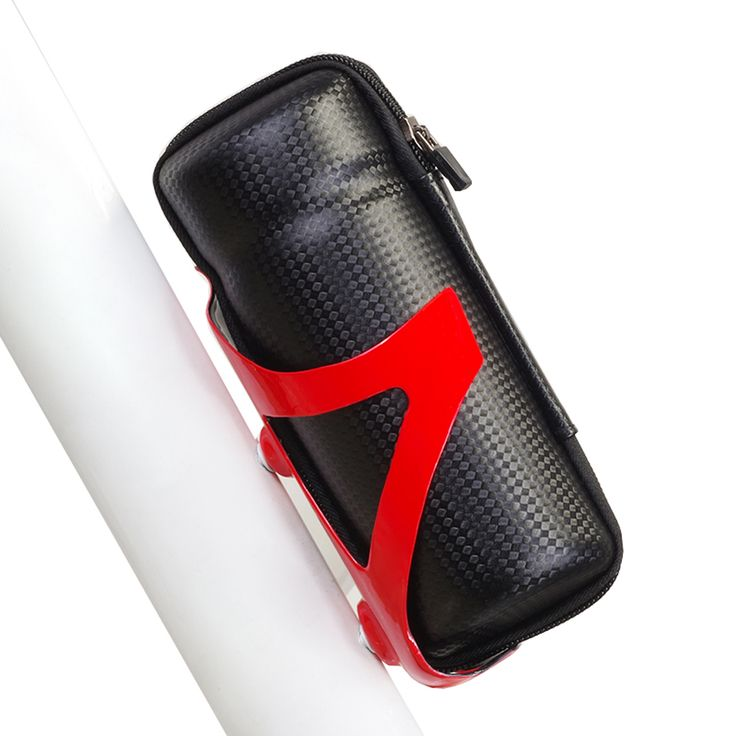 Bicycle Front Frame Tube Tools Bag Sport Cycling Bike Capsule Storage Bags Cycling Bicycle Repair Tool Box Carbon fiber Pattern