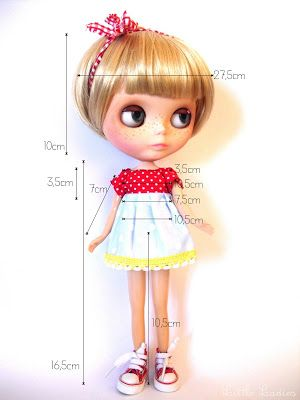 little ladies: Blythe doll body measurements
