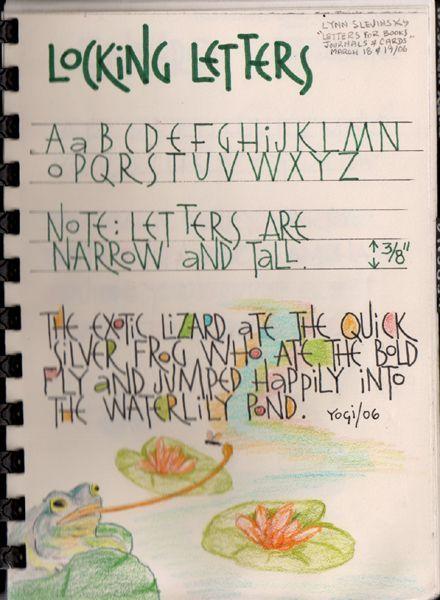 Locking Letters Font