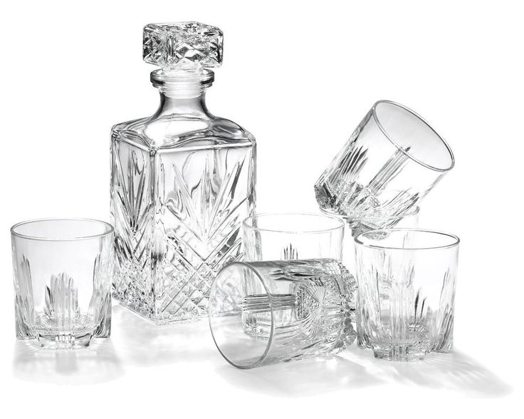 Whiskey Gift Set Bormioli Rocco Classic Rocks Decanter Glass Crystal Bottle Him #BormioliRocco
