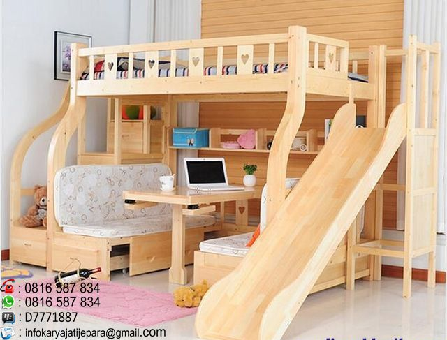 tempat tidur anak prosotan ini dibuat dari bahan kayu mahony dan dikerjakan oleh tukang kami yang sudah sangat profesional dan nmempunyai kontruksi kuat