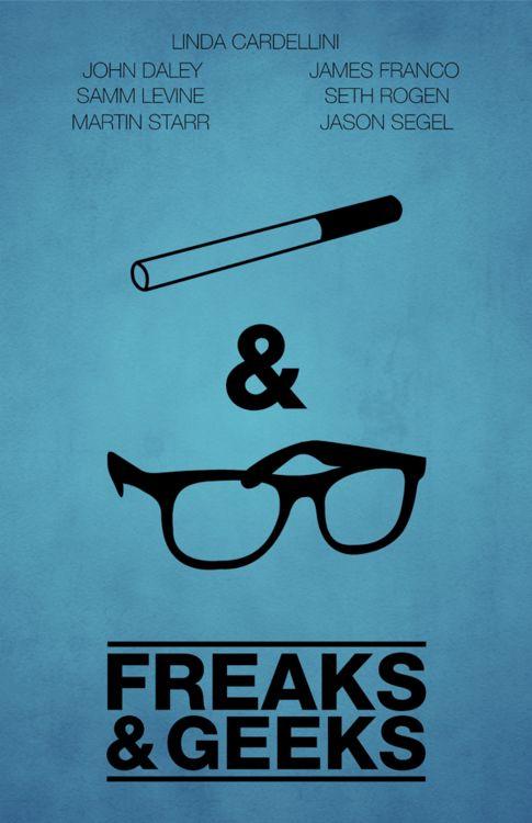 Freaks and Geeks: Minimalist Posters, Minimal Posters, Minimalist Movie Posters, Geek Food, Art Prints, Posters Design, Tv Show, Freak And Geek, Minimal Movie Posters