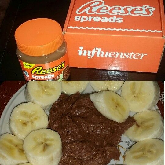 I'm not a fan of chocolate but this I liked alot.  Quick snack, banana with Reese's Spread thanks @influenster for sending this to me for free to taste it. #ReesesSpreads #Contest