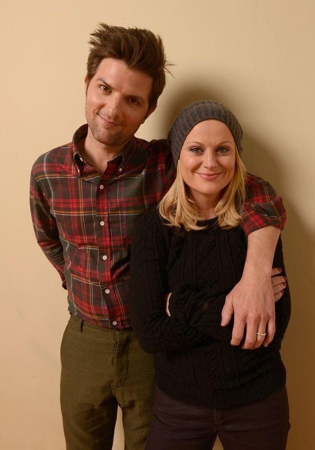 Adam Scott and Amy Poehler