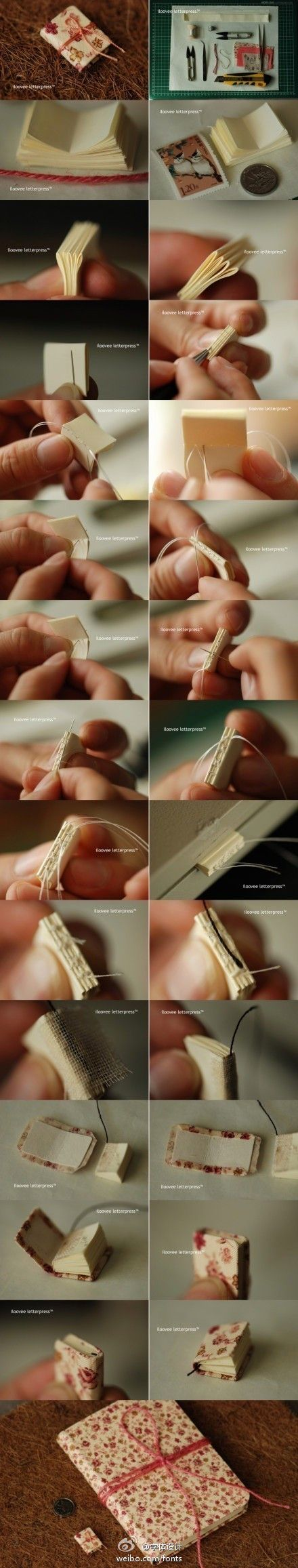 Make your own miniature book tutorial with pictures