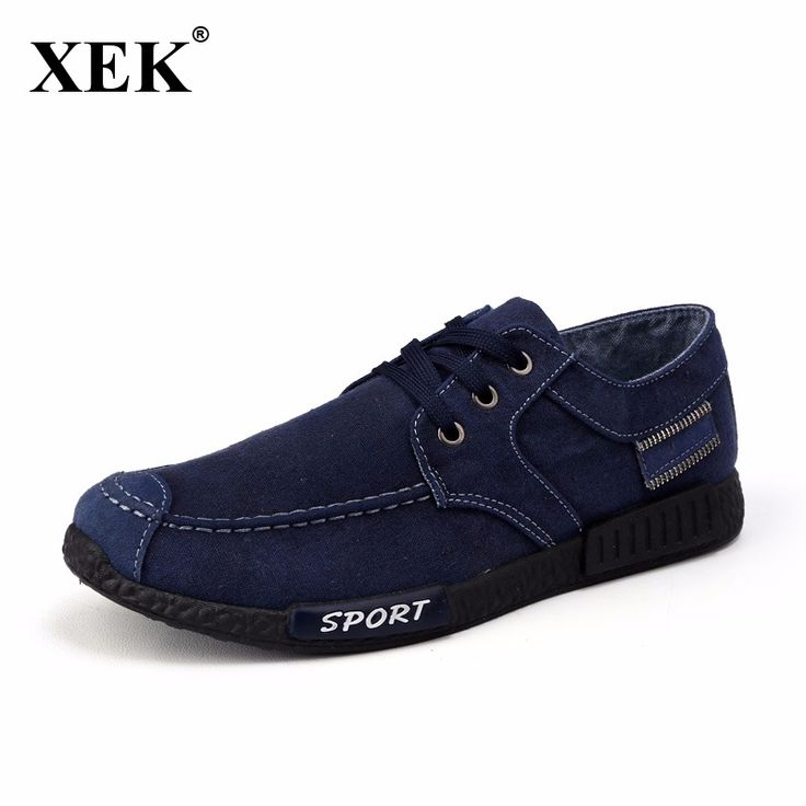 Men Jeans Canvas Shoes 2017 Autumn New Arrival Men Casual Flats Low Top Men Boat Shoes Male Breathable Old Peking Gumshoe XC81. Click visit to buy