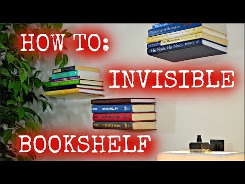17 best ideas about invisible shelves on pinterest How to make an invisible bookshelf