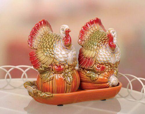 Thanksgiving day decor shop 170 pinterest ceramic turkey salt pepper set thanksgiving thanksgivingday turkey decor negle Gallery