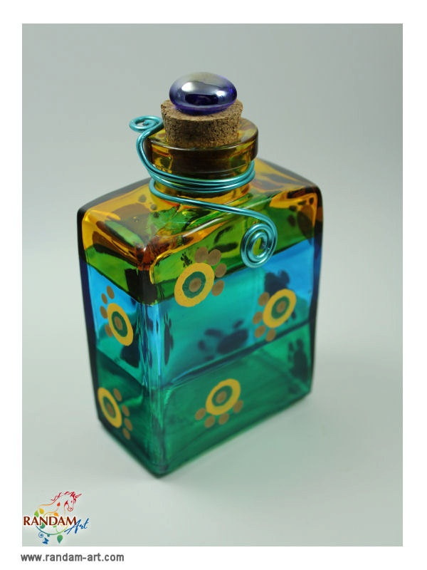 17 Best Images About Hand Painted Glass Bottles On
