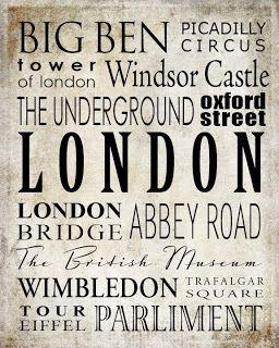 Very Merry Vintage Syle: London Free Printable