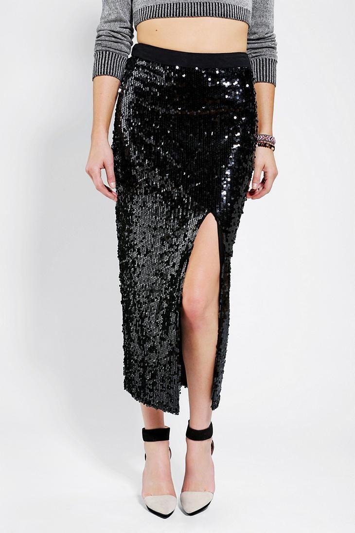 Blaque Label Sequin Maxi Skirt #urbanoutfitters