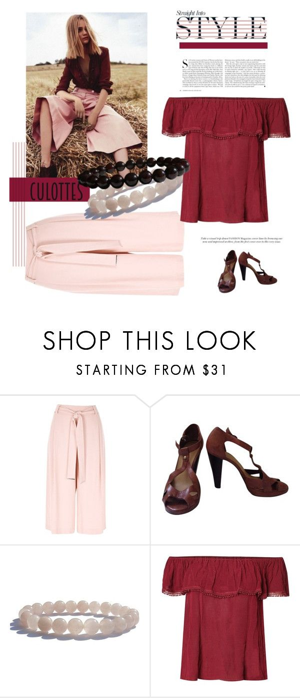 """Tricky Trend: Chic Culottes"" by zenstore ❤ liked on Polyvore featuring River Island, Kershaw, Carvela Kurt Geiger, Dex, TrickyTrend and culottes"