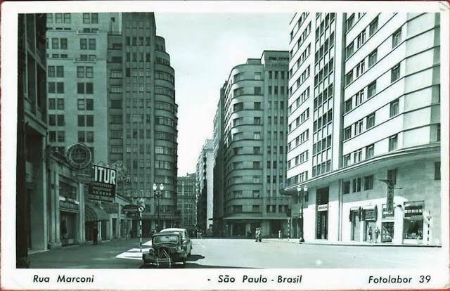 Rua Marconi, década de 1950