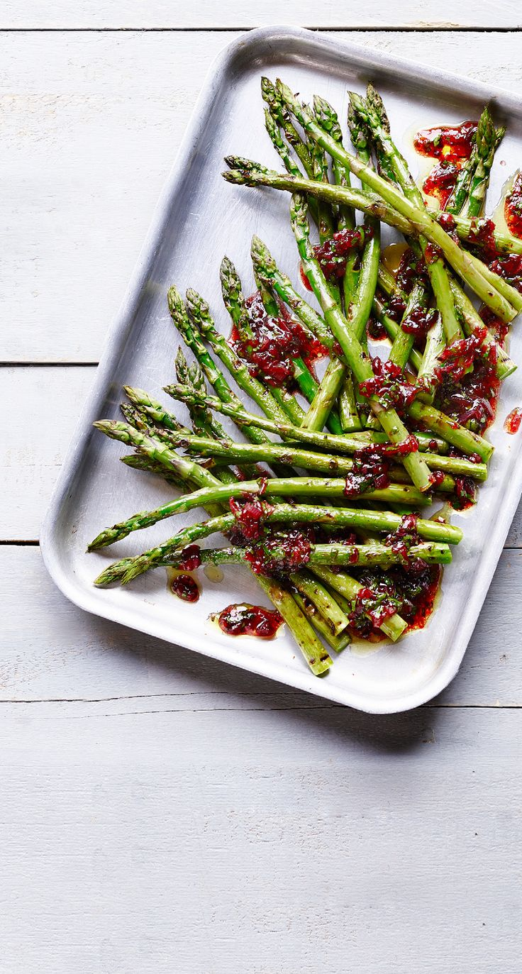 Asda Good Living | Griddled asparagus with a red currant jelly dressing