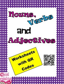 64 best qr codes images on pinterest school educational nouns verbs and adjectives worksheets with qr codes fandeluxe Image collections