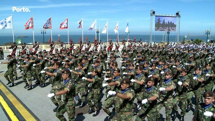Desfile Militar na Foz do Porto - YouTube