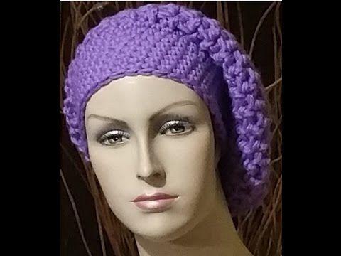 Tutorial basco all'uncinetto - boina crochet - beret crochet - YouTube