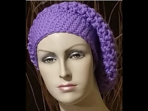 Tutorial basco all'uncinetto - boina crochet - beret crochet - YouTube