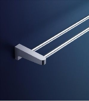 Dorf Arc Wall Double Towel Rail - 600mm Bathroom Accessories