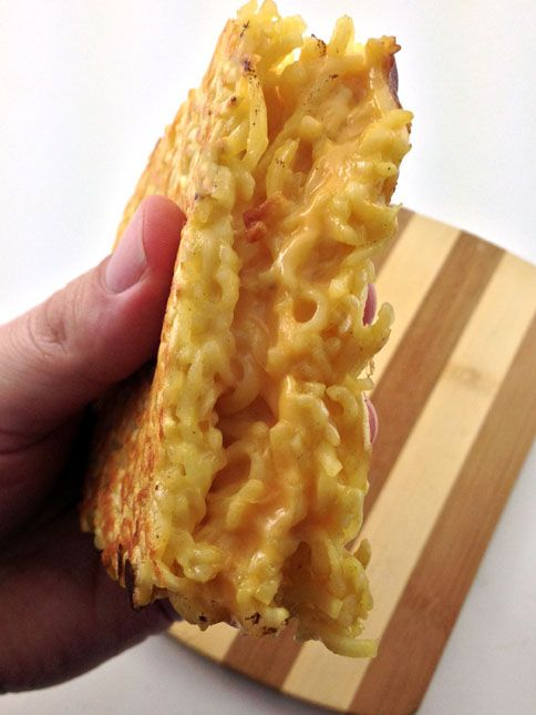 The Ramen Noodle Grilled Cheese Sandwich | DudeFoods.com Food Blog & Reviews