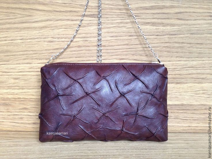 Купить Клатч из натуральной кожи Vintage brown - клатч, клатч ручной работы
