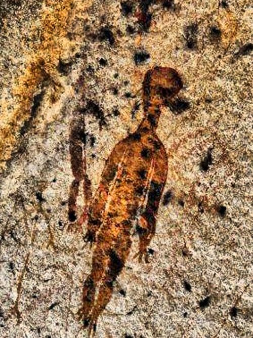 10000-летние наскальные рисунки с изображением инопланетян и НЛО, обнаружены в Индийском штате Чхаттисгарх   Земля - Хроники жизни