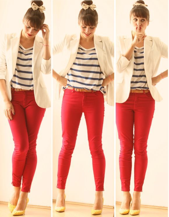 A little #red brings out the playful side of your style!