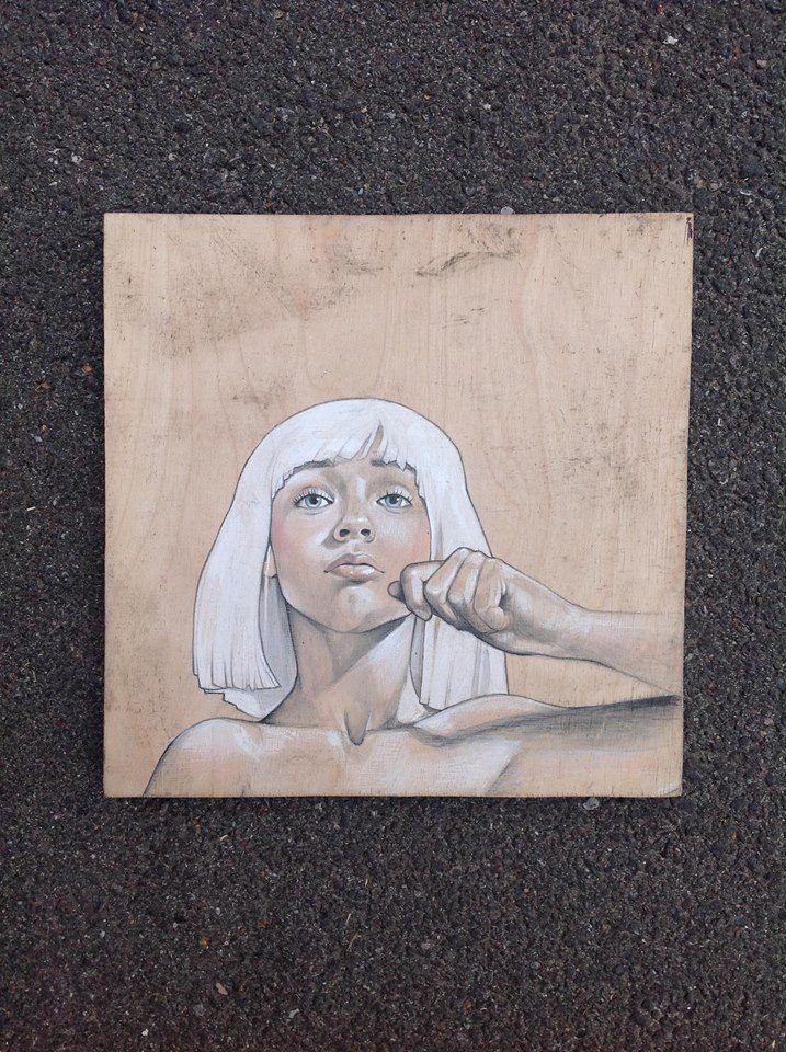 #Sia on #wood - #recycle #reuse #recyclart #fanart #sofiecasparsen.dk