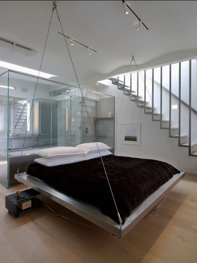 lit design suspendu chambre pinterest. Black Bedroom Furniture Sets. Home Design Ideas