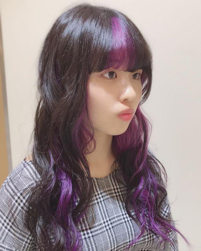 前髪 カラー