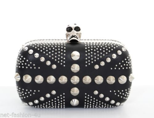 ALEXANDER-McQUEEN-RARE-AND-SOLD-OUT-PUNK-STUDDED-BRITANNIA-SKULL-BOX-CLUTCH-BAG