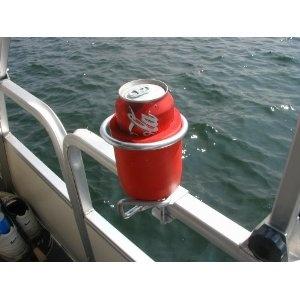 "Pontoon / Deck Boat Cup Holder. Lance says ""put LOVE IT"". Lol"