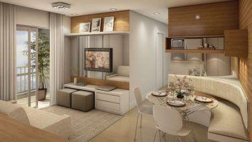 Decoração de apartamentos pequenos – 30 ideias geniais