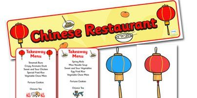 Twinkl Resources >> Chinese Restaurant Role Play Pack  >> Classroom printables for Pre-School, Kindergarten, Primary School and beyond! Chinese restaurant, menu, posters, lanterns, symbols, Display signs, display, labels, pack, Chinese new year, china, lantern, dragon, chopsticks, noodles, year of the rabbit, fortune cookie,