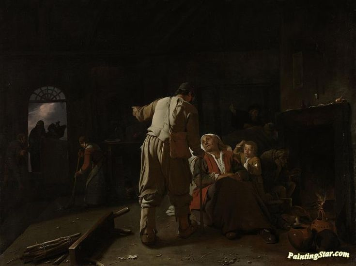 Visiting the sick Artwork by Michael Sweerts Hand-painted and Art Prints on canvas for sale,you can custom the size and frame