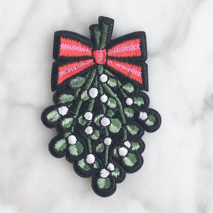 SALE - 25% Off!! Mistletoe Christmas Iron On Patch   Embroidered Applique   Perfect for a DIY Not So Ugly Christmas Sweater !!!