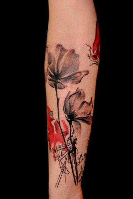Beautiful! I would love this on my body.: Tattoo Ideas, Watercolor Tattoos, Tattoo Inspiration, Body Art, Watercolor Flower, Tattoo'S, Flower Tattoos, Ink