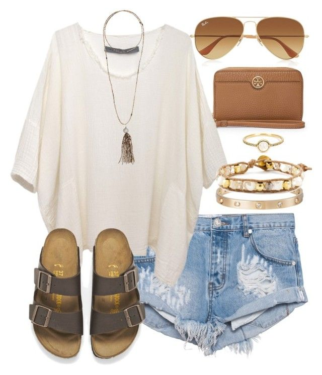TX, ty for the weather today:) by daniellekenz on Polyvore featuring polyvore, fashion, style, Raquel Allegra, One Teaspoon, Birkenstock, Chan Luu, Cartier, Bettina Duncan, Irene Neuwirth, Tory Burch, Ray-Ban, women's clothing, women's fashion, women, female, woman, misses and juniors