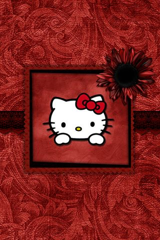 [320x480] Black & Red Hello Kitty Wallpaper - Free Hello Kitty Background - Wallpaper Download - Profilerehab