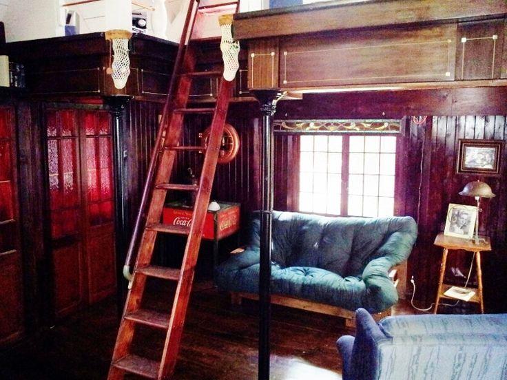 re-purposed 6 x 12 snooker table for loft...slate used on floor