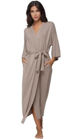 7abcd0fec2  EBay  Women S Cotton Long Kimono Robe Sexy Party Wedding Bride Bridesmaids  Robes Ladies Modal Black Loungewear Nightgown Bathrobe