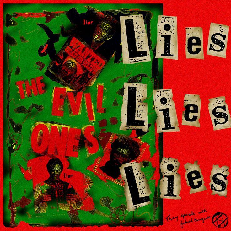 Jamie Reid • jamiereid.org • Lies Lies Lies - The Evil Ones