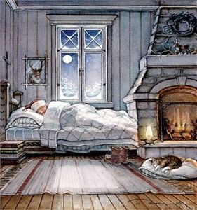 """Trisha Romance Handsigned & Numbered Limited Edition Giclee:""""Dreaming of Christmas"""""""