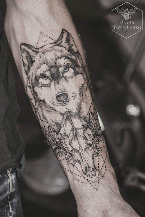 Татуировка волк - 50 фото Символизм, основное значение