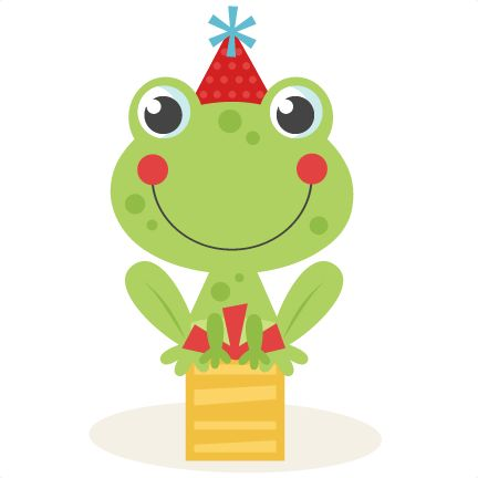 Birthday Frog SVG scrapbook cut file cute clipart files ...