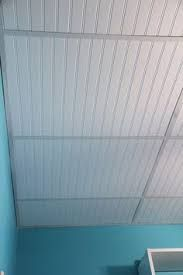 Image result for embossed paintable wallpaper over 2 x 4 dropped ceiling tiles