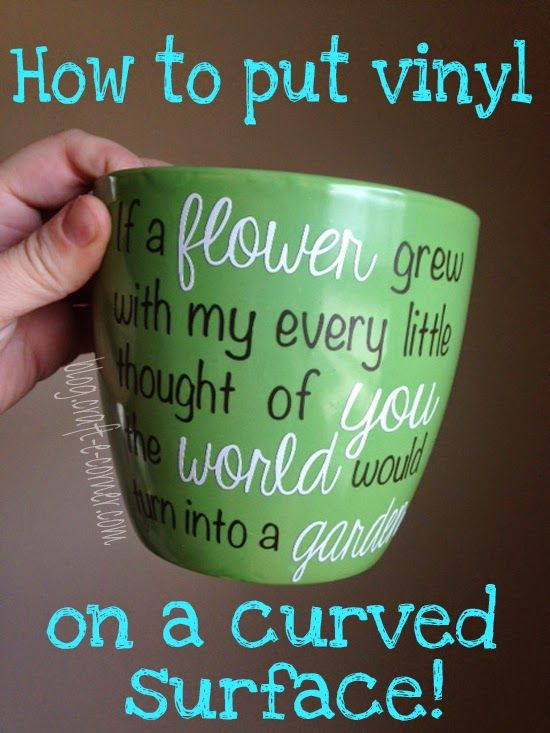 Craft-e-Corner Blog * Celebrate Your Creativity: Applying Vinyl to a Curved Surface - Garden Flower Pot for Mother's Day