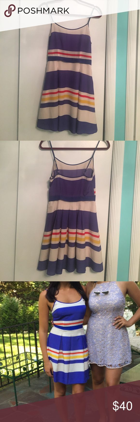 Nautical summer dress! Adorable, fun and flattering summer dress with adjustable spaghetti straps! Juicy Couture Dresses